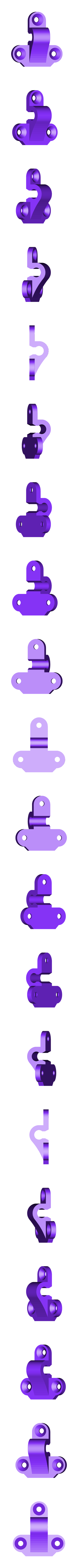 up4.stl Download free STL file Classic style hasp for boxes model 3 • Object to 3D print, raffosan
