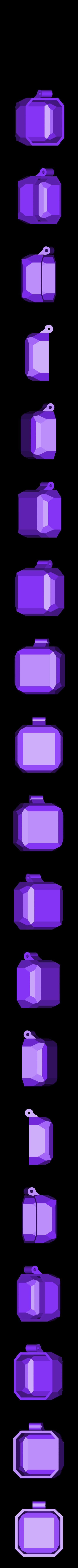 top_big.stl Télécharger fichier STL gratuit boîte cube cube lowpoly ringbox avec moraillon • Design pour impression 3D, raffosan