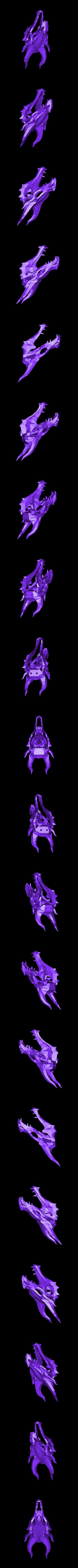 skull.stl Download free STL file Skyrim skull Dragon wall Trophy • 3D printable model, raffosan