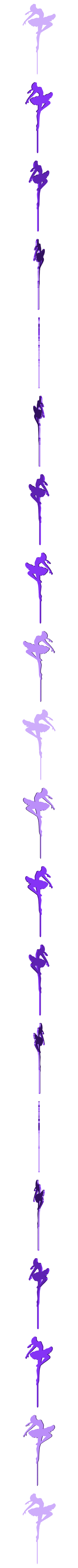bailarina pose cupcake.stl Download STL file Topper ballet dancer cupcake • 3D printer template, Geralp