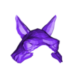 Llama_Mask_head_fixed.stl Download free STL file Low Poly Llama Mask • 3D print design, roguemat