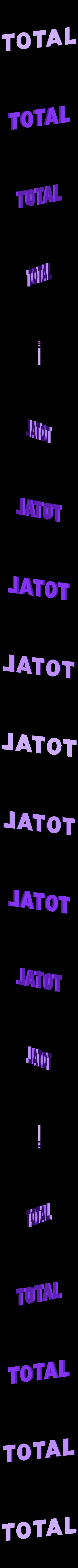 logo_TOTAL_63_TOTAL.STL Download free STL file TOTAL logo 1963 • 3D printer object, lulu3Dbuilder