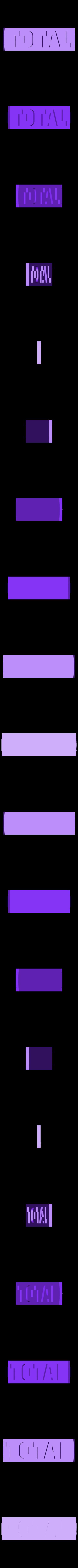 logo_TOTAL_70_support_blanc.STL Download free STL file TOTAL logo 1970 • Template to 3D print, lulu3Dbuilder