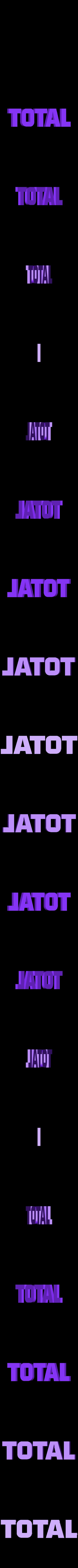 logo_TOTAL_70_total_orange.STL Download free STL file TOTAL logo 1970 • Template to 3D print, lulu3Dbuilder