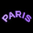 logo_psg_120_dome_paris_blanc.STL Download free STL file PSG Logo Badge Dome Version • 3D printer model, lulu3Dbuilder