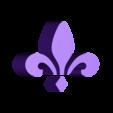 logo_psg_120_dome_or.STL Download free STL file PSG Logo Badge Dome Version • 3D printer model, lulu3Dbuilder