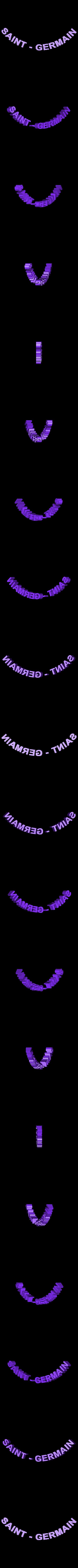 logo_psg_120_dome_st_Germain_blanc.STL Download free STL file PSG Logo Badge Dome Version • 3D printer model, lulu3Dbuilder