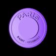 logo_psg_120_dome_master_bleu.STL Download free STL file PSG Logo Badge Dome Version • 3D printer model, lulu3Dbuilder