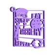 llavero-v2.stl Download STL file Archery Keychain - EAT SLEEP REPEAT • Object to 3D print, Be3DArg
