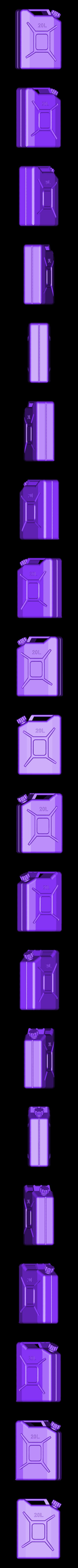 Fuel tank 20L V1.stl Download free STL file Jerry can Fuel can TRX4 SCX10 K5 RC4WD scale rc • 3D printable object, kiatkla