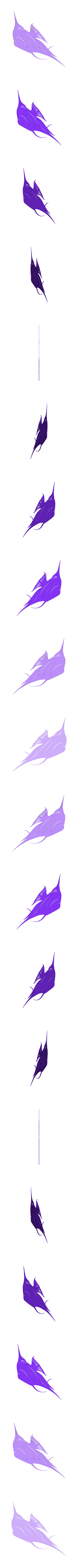 3_Angel_Single_2.stl Download STL file Angel fish wall art \ Decor • 3D printing object, 3dprintlines