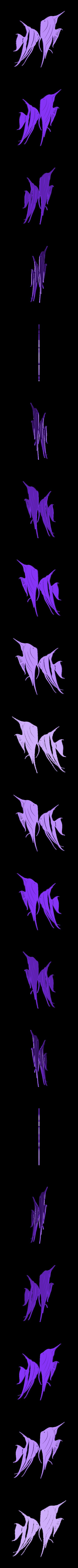 1_Angel_Pair.stl Download STL file Angel fish wall art \ Decor • 3D printing object, 3dprintlines