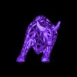 taureau seul.stl Download STL file Voronoi Bull • Object to 3D print, motek
