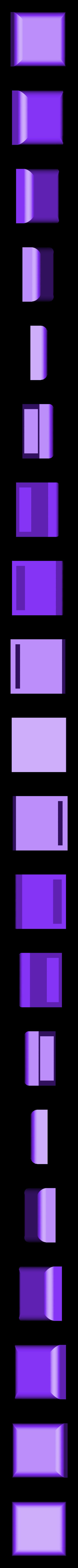 Square button.stl Download STL file One piece flexible magnetic purse • 3D printable object, Aravon