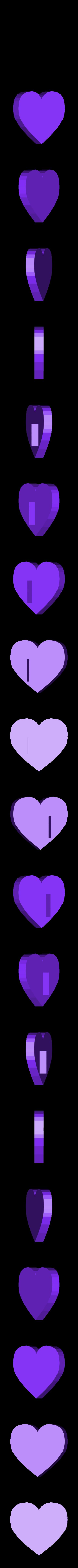 Heart button.stl Download STL file One piece flexible magnetic purse • 3D printable object, Aravon