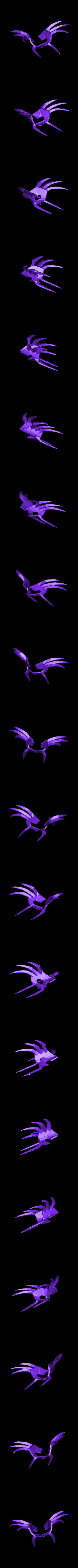 cancer.stl Download STL file saint seiya helmet cancer • 3D printing object, darkangel