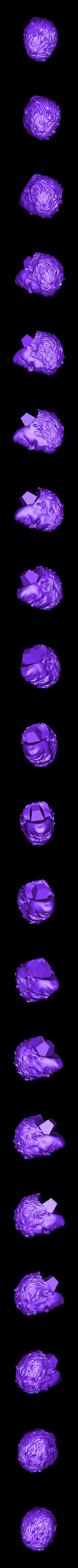 Head_225mm.stl Download STL file Hulk Angry - Super Hero - Marvel 3D print model • 3D print model, Bstar3Dart