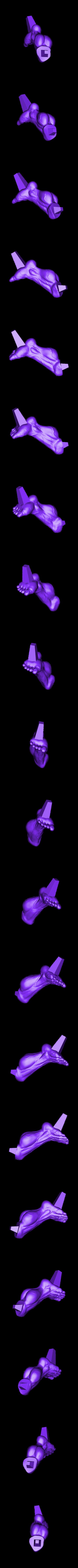 Lleg_225mm.stl Download STL file Hulk Angry - Super Hero - Marvel 3D print model • 3D print model, Bstar3Dart