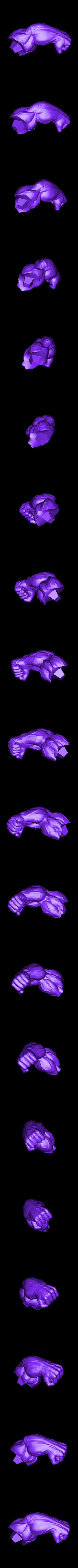 Lhand_225mm.stl Download STL file Hulk Angry - Super Hero - Marvel 3D print model • 3D print model, Bstar3Dart