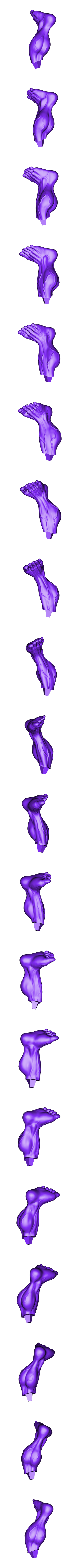 Rleg_225mm.stl Download STL file Hulk Angry - Super Hero - Marvel 3D print model • 3D print model, Bstar3Dart
