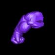 Rhand_225mm.stl Download STL file Hulk Angry - Super Hero - Marvel 3D print model • 3D print model, Bstar3Dart