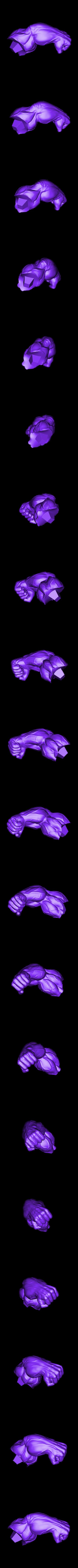 Lhand_300mm.stl Download STL file Hulk Angry - Super Hero - Marvel 3D print model • 3D print model, Bstar3Dart