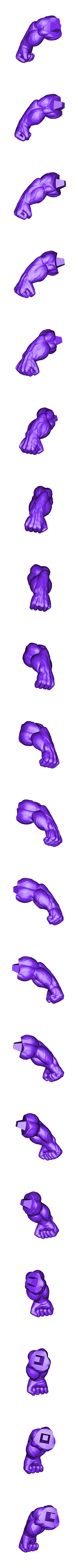 Rhand_300mm.stl Download STL file Hulk Angry - Super Hero - Marvel 3D print model • 3D print model, Bstar3Dart