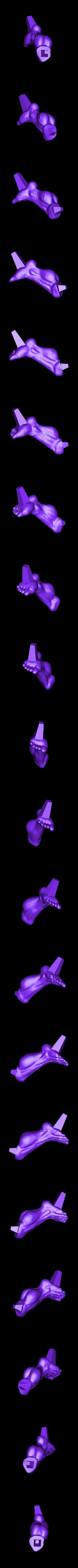 Lleg_300mm.stl Download STL file Hulk Angry - Super Hero - Marvel 3D print model • 3D print model, Bstar3Dart