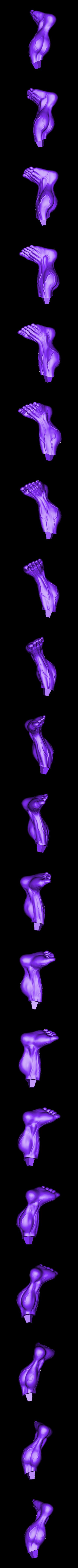 Rleg_300mm.stl Download STL file Hulk Angry - Super Hero - Marvel 3D print model • 3D print model, Bstar3Dart
