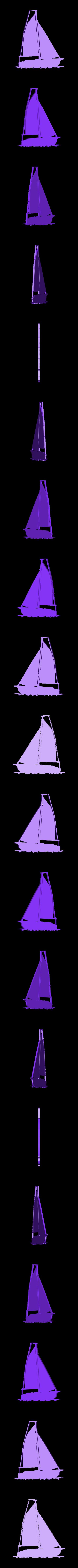Sailing_boat_5.stl Download STL file SAILING BOAT FOR WALL DECORATION_5 • 3D printable design, 3dprintlines