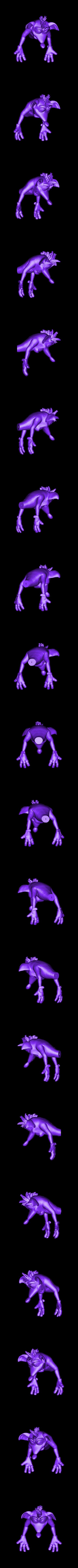 crash_body.stl Download STL file Crash Bandicoot hold Nintendo Switch • 3D print model, emanuelsko