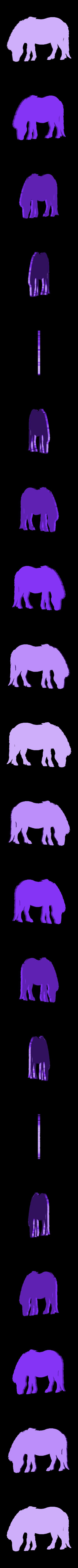 poney.stl Download free STL file pony • Template to 3D print, Justinclaes