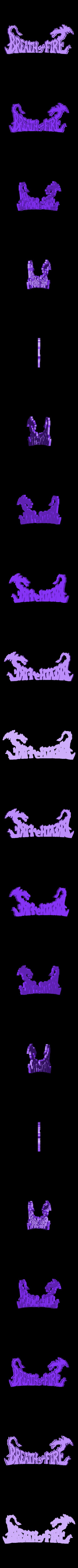 breath_of_fire_letters.stl Télécharger fichier STL gratuit Souffle de l'art de la boîte à feu • Plan à imprimer en 3D, mark579