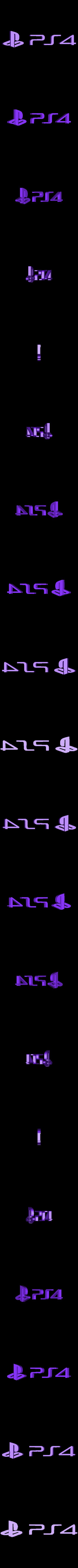 ps4_letters.stl Download free STL file Playstation 4/3 Game Case Holder- Flat & Full Back Options • 3D printing template, mark579