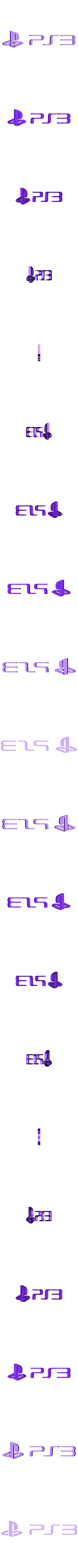 PS3_letters.stl Download free STL file Playstation 4/3 Game Case Holder- Flat & Full Back Options • 3D printing template, mark579