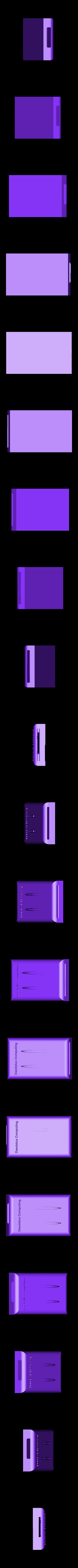 SSD_Model._v9_complete_vented_embossed_.stl Download free STL file Flexible external SSD Case • 3D printable design, 3D-Designs