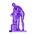 hermes.OBJ Download free OBJ file Hermes Fastening his Sandal • Template to 3D print, ThreeDScans
