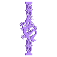 ornament_dragon.stl Download free STL file Chinese wall lamp  • 3D printing object, tomast
