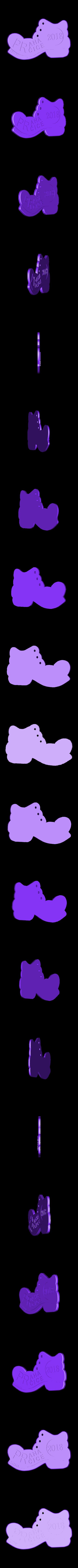 PPP2018.stl Télécharger fichier STL gratuit Botička / Chaussure (récompense du voyage de randonnée tchèque Praha - Prčice) • Design imprimable en 3D, tomast