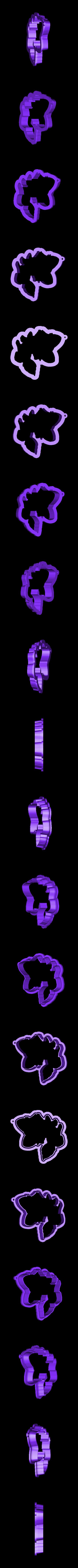 1.stl Download STL file Cute Fox Cookie Cutter • 3D printer template, 3dfactory