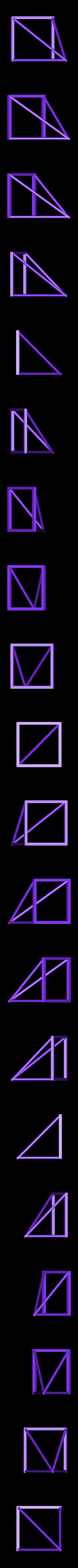 LiuThirdOutline.stl Download free STL file Thirds Cube Dissection, Many Styles, Liu Hui • 3D printer template, LGBU