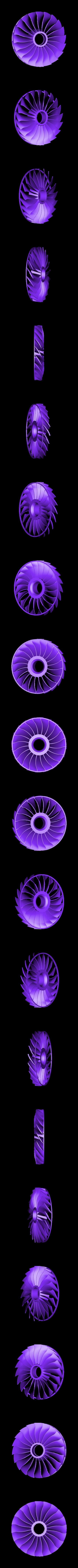Fan-Blade-CW01ws.stl Download STL file Thrust Reverser with Turbofan Engine Nacelle • 3D printable model, konchan77