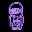 Krilin completo.stl Télécharger fichier STL gratuit Dragon Ball Krilin,Goku x3 cutters • Design imprimable en 3D, bboy_born22