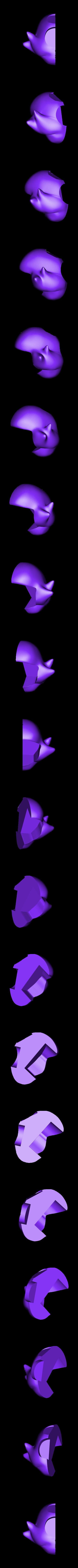 hair_right.stl Download free STL file Princess Peach from Mario games - multi-color • 3D print design, bpitanga