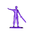 YoungLord_ArmRaisedWithSword.stl Download free STL file Young Hero (multiple poses) • 3D print object, stockto