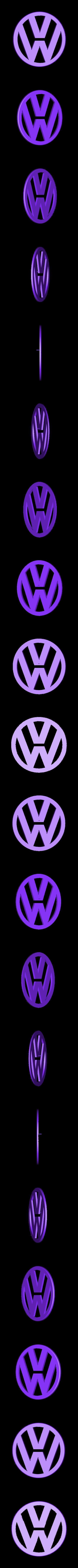 Volkswagen_logo.stl Download free STL file Mercedes Benz and Volkswagen keychain • 3D printable model, Jakwit