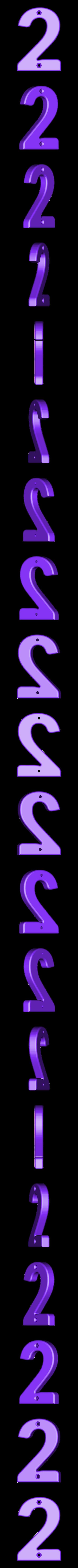 2.stl Télécharger fichier STL gratuit Numéros de maison • Modèle pour impression 3D, Jakwit