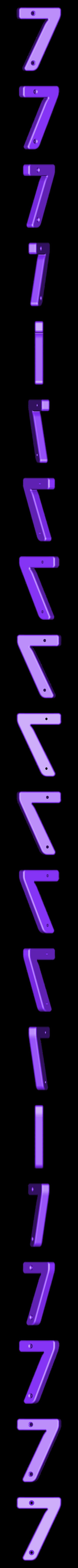 7.stl Télécharger fichier STL gratuit Numéros de maison • Modèle pour impression 3D, Jakwit