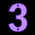 3.stl Télécharger fichier STL gratuit Numéros de maison • Modèle pour impression 3D, Jakwit