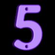 5.stl Télécharger fichier STL gratuit Numéros de maison • Modèle pour impression 3D, Jakwit